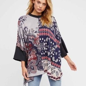 Free People • Oversized Paisley Tunic Top